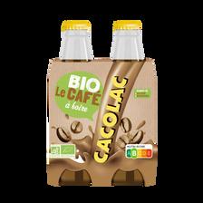 Boisson lactée arômatisée café BIO CACOLAC, 4 bouteilles de 20cl