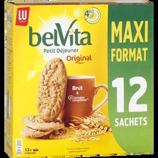 Belvita petit déjeuner brut & 5 céréales complètes, LU, paquet de 12 sachets de 6 00g, maxi format