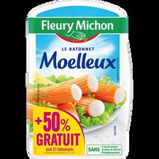 Fleury Michon Bâtonnets De Surimi Moelleux, , X27, 288g+ 50% Offert Soit 432g