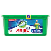 Ariel Lessive 3/1 Active Oder Defense Pods+ Ariel, X24 Doses Soit 650,4g