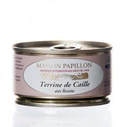 *PATÉ DE CAILLE/RAISINS   130G