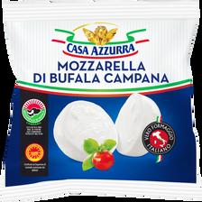 Mozzarella Latte Di Bufala, CASA AZZURRA, 24% de MG, 125g