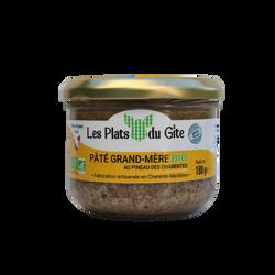 Pâté grand-mère bio au Pineau des Charentes LES PLATS DU GITE, bocal de 180g