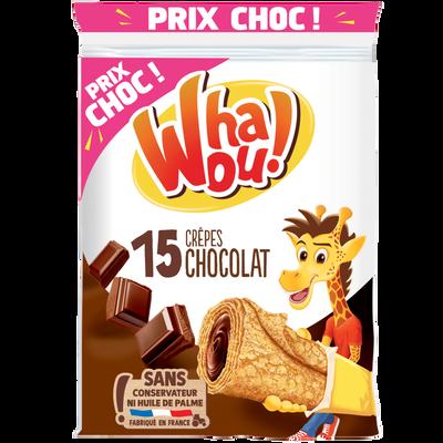 Crêpes fourrées chocolat WHAOU x15 480g prix choc