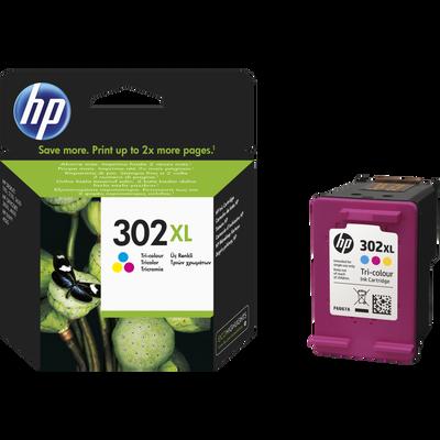 Cartouche d'encre HP pour imprimante, F6U67AE n°302, 3 couleurs, sousblister