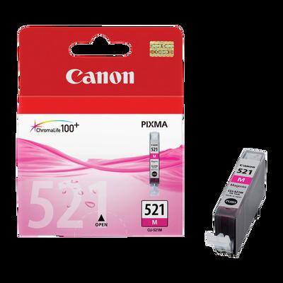 Cartouche d'encre CANON pour imprimante, CLI 521M magenta, sous blister