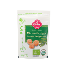 Bonbons bio miel saveur eucalyptus Pinson sachet 150g