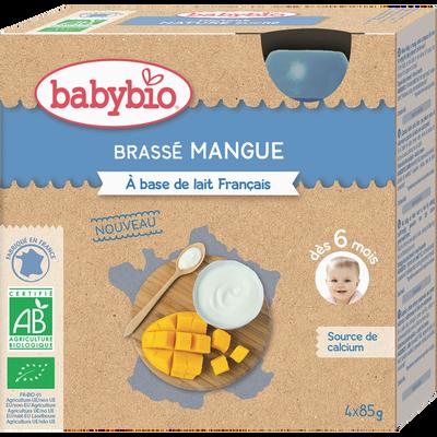 Gourde brassé mangue BABYBIO, 4x85g