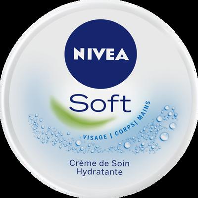 Crème de soin hydratante Soft NIVEA, pot 200ml