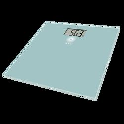 Pèse-personne électronique U.MAISON slim en verre,capacité 160kg,graduation:100g,affichage digital,pile incluse31x31x2,1cm,vert d'eau