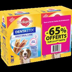 PEDIGREE Dentastix multivariétés moyen/grand chiens 2x720g
