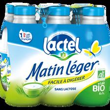 Lait UHT à teneur réduite en lactose 1,2%MG Bio MATIN LEGER, bouteille6x1 litre
