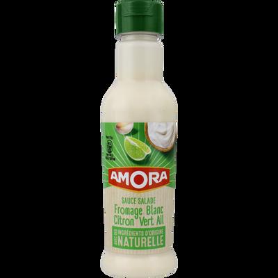 Sauce fromage blanc citron vert ail AMORA, bouteille de 210ml