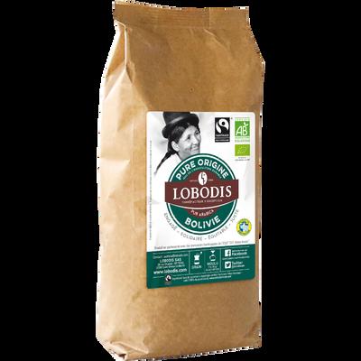 Café en grain pure origine Bolivie bio LOBODIS, 500g