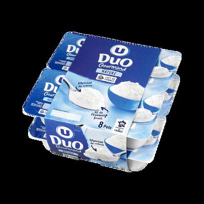 Fromage frais au lait pasteurisé sous crème fouettée 10,4% de matièregrasse U, 8x100g