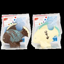 Moulage poisson exotique en chocolat au lait ou blanc LE TECH, 130g