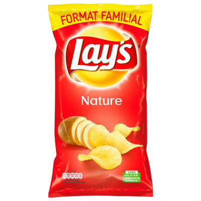 Chips finement salées LAY'S, 300g