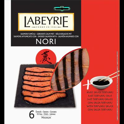 Saumon fumé au nori + sauce teriyaki LABEYRIE, 6 émincés, 115g