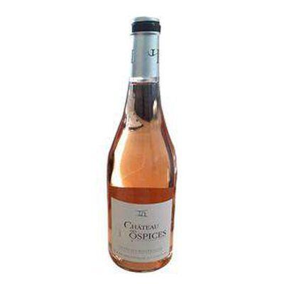Vin Rosé Château Des Hospices, AOP Côtes du Roussillon, bouteille de 75Cl