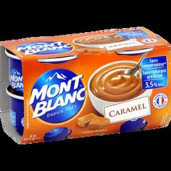 Crème dessert au caramel MONT BLANC, 4x125g