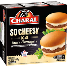 Hamburger So cheesy sauce fromagère CHARAL, 4x100g