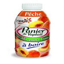 Yaourt a boire pèche morceaux ,PANIER DE YOPLAIT,250g