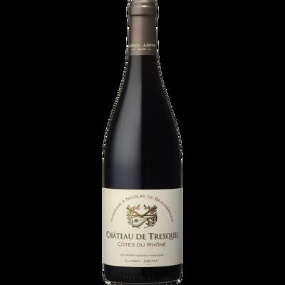 Vin rouge AOP Côte du Rhône Château de Tresques hommage à Nicolas de Beauharnais, bouteille de 75cl