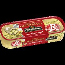 Filets de maquereaux au muscadet et aux arômates label rouge CONNETABLE, 1/4 176g
