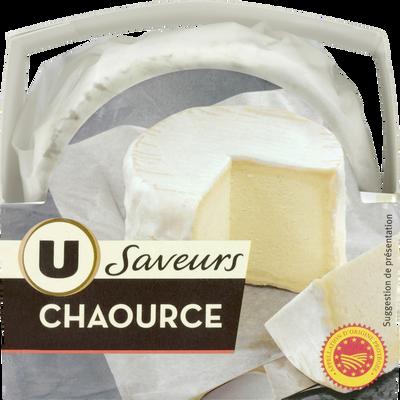 Chaource AOP au lait thermisé U SAVEURS, 22% de MG, boîte de 250g