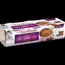 Repas minceur crème chocolat GERLINEA, 3 coupelles de 210g