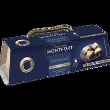 Excellence Bloc Foie Gras De Canard Sans Morceaux Finement Salé Et Poivré Avec Mini Lyre  Montfort, Barquette 140g
