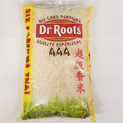 Riz long parfumé thaï DR ROOTS, le sachet de 1kg