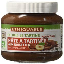 Pâte à Tartiner aux Noisettes Equateur 350G  ETHIQUABLE