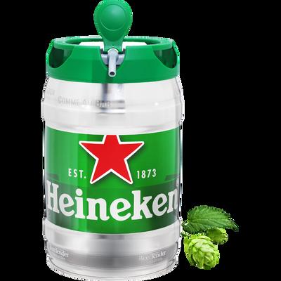 Bière blonde HEINEKEN, 5°, mini fût pression de 5l