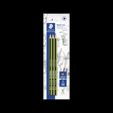Crayons graphite hexagonal HB Noris Eco STAEDTLER, avec taille-crayon,3 unités