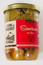 Saucisses aux choux, LA FERME DU BOSCHET, bocal 760g