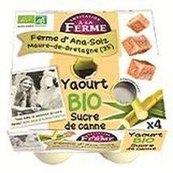 Yaourt au sucre de canne, LA FERME D'ANA SOIZ, 4x125g