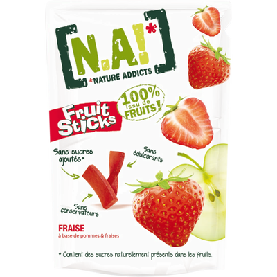 Pépites Fruit Sticks fraise N.A!, 40g