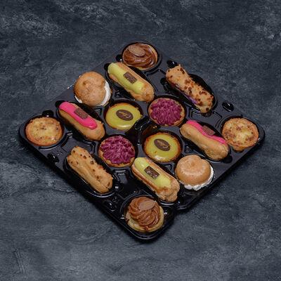 Mini gâteau lunch fruits décongelé, 16 pièces, 390g