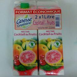 CARESSE GUYANAISE NECTAR COCKTAIL DE FRUITS 2X1L