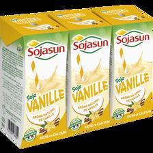 Boisson de soja riche en calcium UHT vanille SOJASUN, 3x20cl