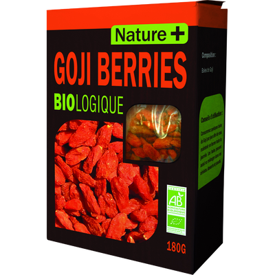 Baies de Goji bio NATURE+, paquet de 180g