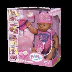 Poupon interactif Baby Born 43 cm yeux marrons - Dès 3 ans