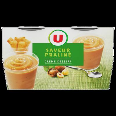 Crème saveur dessert praliné U, 4 boîtes de 120g