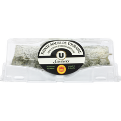 Fromage de chèvre au lait cru AOP Sainte-Maure 22% de matière grasse Saveurs U, 250G