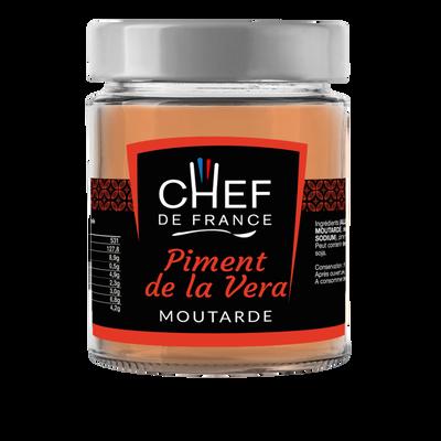 Moutarde au piment fumé de la Vera CHEF DE FRANCE, pot de 190g