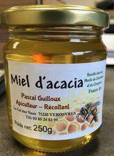 Miel d'acacia, Pascal GUILLOUX, pot en verre 250g