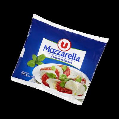 Mozzarella au lait pasteurisé, U, 18% de MG, 3x125g