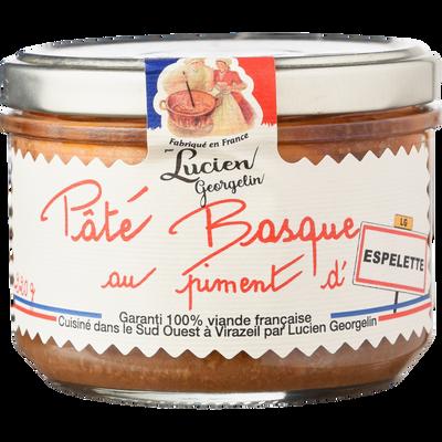 Pâté Basque au piment d'espelette, LUCIEN GEORGELIN, bocal de 220g