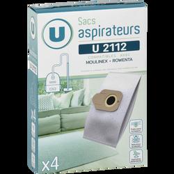 Sac aspirateur U2112 U, pack de 4